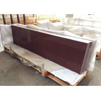 Red Sparkle Quartz Kitchen Countertops 26'' Wide Eased Edge Without Sink Hole