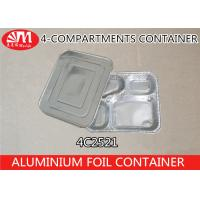 4C2521 Aluminium Foil Products 4 Compartment Foods Packing Container 850ml Volume