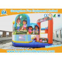 China Dora Inflatable Slip N Slide Bouncy Castle , Inflatable Water Slide Jumper For Baby Party on sale