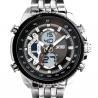 Best Men Business Metal Watch EL Backlight Alloy Case 50M Water Resistant wholesale