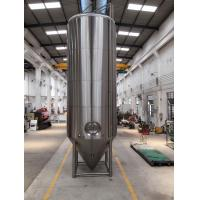 SS 304 Dimple Jacketed Stainless Steel Beer Fermenter 4 Legs With Leveling Footpads