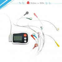 Quality Portable Holter ECG black Recorder With LCD , Holter Heart Monitor FDA Approved for sale