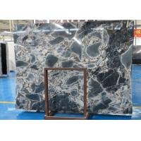 Quality Fantacy Blue Marble Stone Slab  Window Sills Use Size Optional Wear Resistant for sale