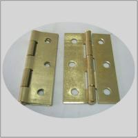Quality Normal  Electric Bass Commercial Kitchen Door Hinges  Fixed Pin Bright Brass Color for sale