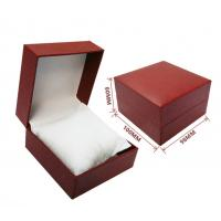 Quality custom made black red decorative closure rigid cardboard jewelry gift box with pillow insert for sale