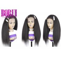 China Kinky Straight Human Frontal Wigs Glueless Swiss Lace Frontal Natural Colors on sale
