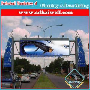 Gantry Spanning a Road Trivision Billboard (W12 X H3)