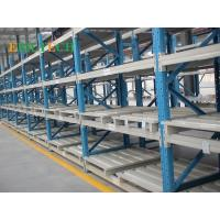 Quality Cold Storage Push Back Racking , 600 - 2000mm Push Rack Industrial Pallet Shelving for sale