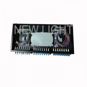 Quality Rack Mounted 48 Port LC Fiber Patch Panel 1U 48 Fiber OM3 / OM4 Multimode for sale