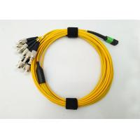 Buy cheap MPO MTP APC to FC fiber optic patch cord  Fanout 12F cores 3.0mm to 2.0mm from wholesalers