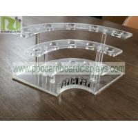 Buy cheap PS Material Bottles POP Clear Acrylic Display Stands Eco - Friendly With Holes from wholesalers