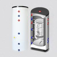 Quality pressurized hot water storage tank with single coil heat exchanger for sale