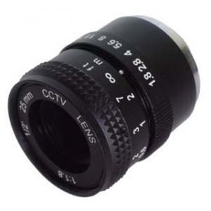 "Quality 1/2"" 25mm F1.8 Manual Iris Fixed Focal CCTV Lens, mono-focal CS-mount lens for sale"