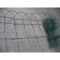 Quality Electric SS Garden Border Fence Roll With Green Powder Coating for sale