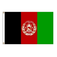 Quality Mesh Polyester 115g Afghan Custom Country Flags 3x5ft 110g 115g for sale