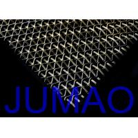 Quality Stainless Steel Waved Architectural Metal Fabric For Exterior Wall Facades for sale