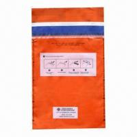 Quality Orange Secure Satchel with Tamper Evident Closure, Customized Designs are Accepted for sale