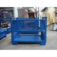Quality Galvanized Steel Stacking Pallets  Electrostatic Powder Coating Blue  Grey Color Available for sale
