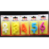Quality Birthday Number Candles Colorful pure Color (0-9)number candle  for sale