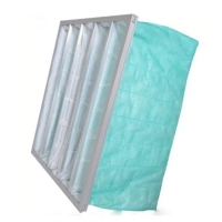Quality Green Color F6 Pocket Air Filter For Operating Room AHU for sale