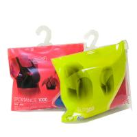 Quality Sock / Underwear Plastic Hanger Bags Slider Zip Lock Custom With Hook Hanger for sale