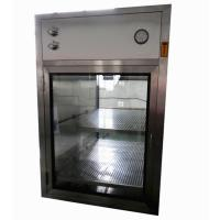 Quality Electronic Interlocking Air Shower Pass Box / Pharmaceutical Cleanroom HEPA Filtered Pass Through for sale