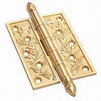 Quality Gold Bright Door Hinges with Antique Brass Finish for sale