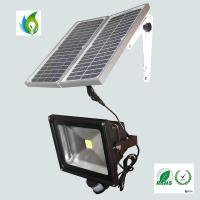 Quality 50W Solar LED Flood Light with PIR Motion Sensor for sale