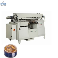 Quality Automatic fish can filling labeling machine canned mud fish labeling machine cold glue labeling machine for sale