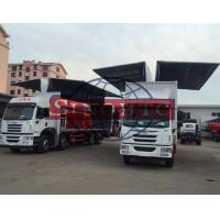 Quality FAW Cargo Transport Truck Opening Wing Van Truck 3 - 30 Tons Loading Capacity for sale
