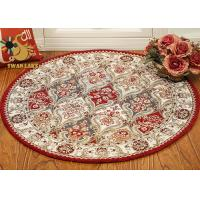 Quality Living Room Persian Rug Modern Design , Round Persian Carpet Dry Quickly for sale