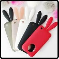 Quality Best apple Rabito iPhone 4G cell phone TPU silicone case with rabbit tail  for sale
