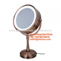 """Quality 7 inch makeup mirror with LED light/7"""" portable standing mirror stand mirror with hand held for sale"""