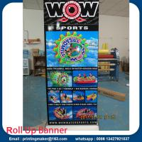 Quality Deluxe Wide Base Single-screen Roll Up Banner Stands for sale