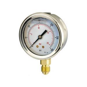 Quality 100mm Bottom-Entry Pressure Gauge for sale