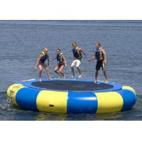 UV Protective Floating Water Trampoline , Blow Up Trampoline Two Coated Side