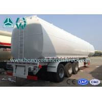HOWO 3 Axle Stainless Steel Tank Trailer Multi Compartments 60000L