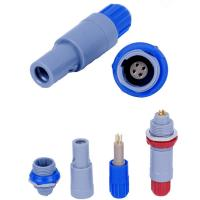 Quality Redel 4pin Plastic Push-Pull connector single notch Compatible Lemo 1P series connector PAG plug for sale