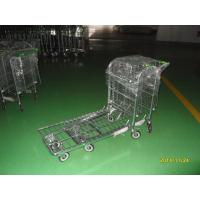 Best Grocery Store Metal Warehouse Picking Trolleys Zinc Plated With Clear Powder Coating wholesale