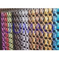 Quality Aluminium Metal Chain Link Curtains Insect Fly Door Blinds Screen Pest Control for sale