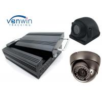 Quality HDD & SD Card 4 Channel Mobile DVR shockproof , digital Mobile car DVR H 264 for sale