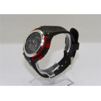 Stainless steel back mens digital wrist watches with four red buttons stopwatch