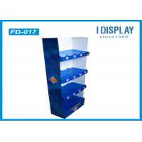 Supermarket Custom Floor Display Racks , 4 Tray Cardboard Bakery Display Shelves