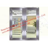 Quality Galvanized Steel Fireproof Glass Fire Rated Double Doors For Shopping Mall for sale
