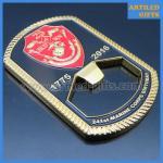 Quality Rope edge cutting Semper fidelis Marine Corps Birthday enamel dog tag bottle opener for sale