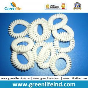 Quality Solid White Plastic Coil Wrist Bracelet Safe Holder for sale