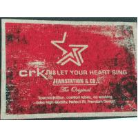 Quality Heat Transfer Clothing Labels Silk Screen Sticker With Customized 3D LOGO / Color for sale