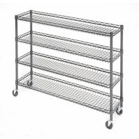 """Quality 4 Tier Metal Rolling Cart With Wheels With Baskets For Retail Storage 5"""" X 18"""" X 21"""" for sale"""