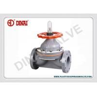 Best PVC-C diaphragm valve weir type flange end ANSI#150,JIS10K,DIN. wheel handle wholesale