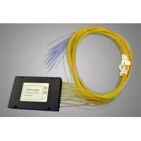9/125 um SMF-28e Type PLC Optical Fiber Splitter With ABS BOX (0.9, 2.0, 3.0mm)